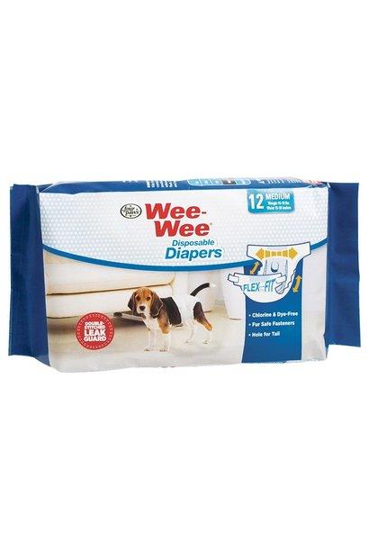 Wee-Wee Disposable Diapers Medium 12PK
