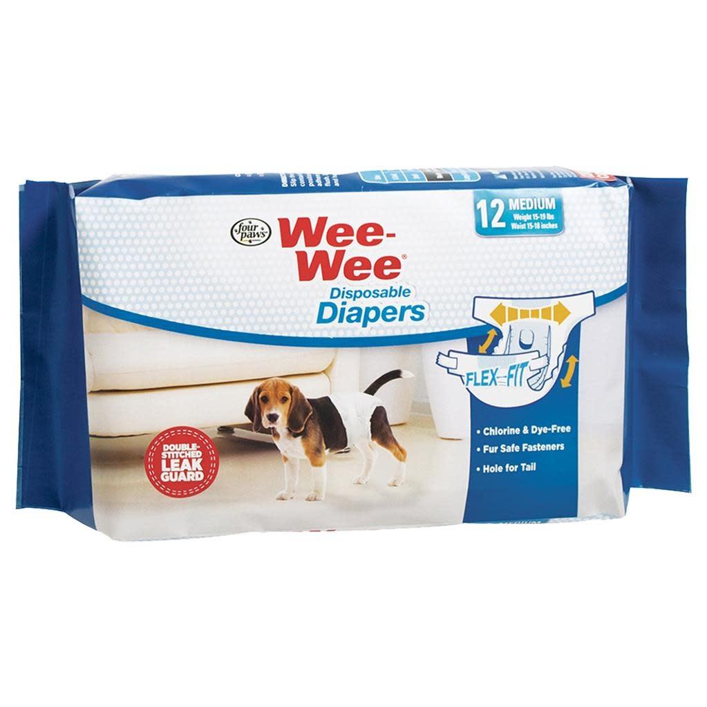 Wee-Wee Disposable Diapers Medium 12PK-1