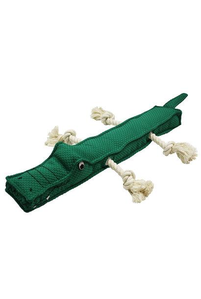 """TuffPuff Alligator Stick 20"""" Squeak & Rope"""