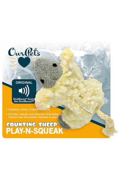 Play N Squeak Plush Counting Sheep Catnip