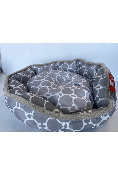"Bud'z Round Cuddler 22""x20"" Medium Grey"