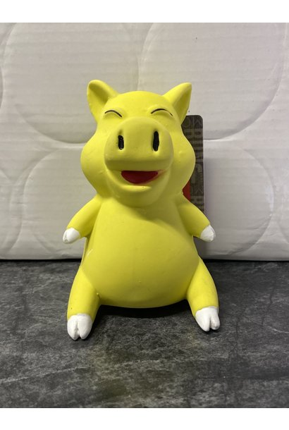 Budz Dog Toy Latex Smiling Pig 4""