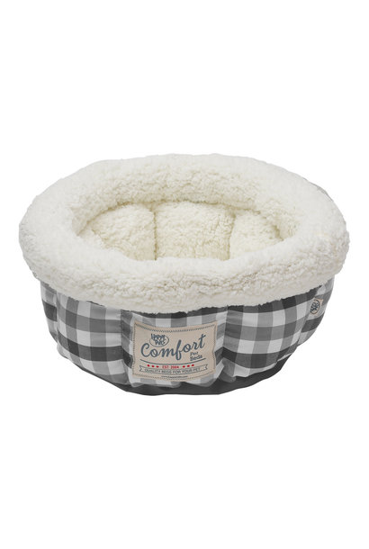 """Round Cat Bed shades of Grey 15"""""""
