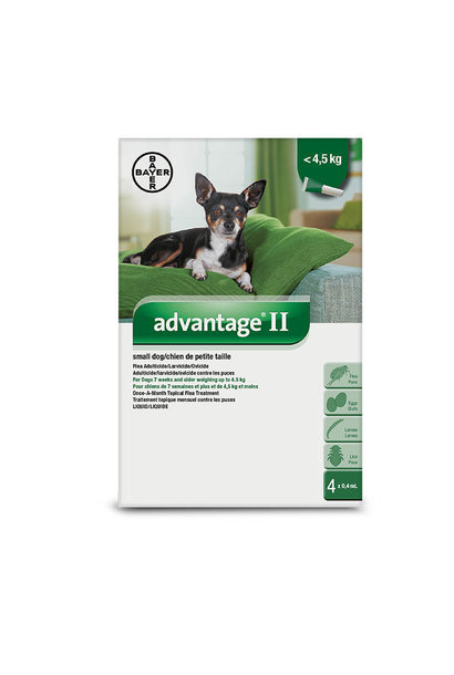 Advantage II- Small Dogs Under 4kg