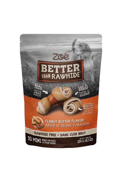 Zoe BTR Bones, Peanut Butter, 10pk