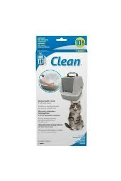 Catit Biodegradable Liner for Jumbo Cat Pan, 10-pack