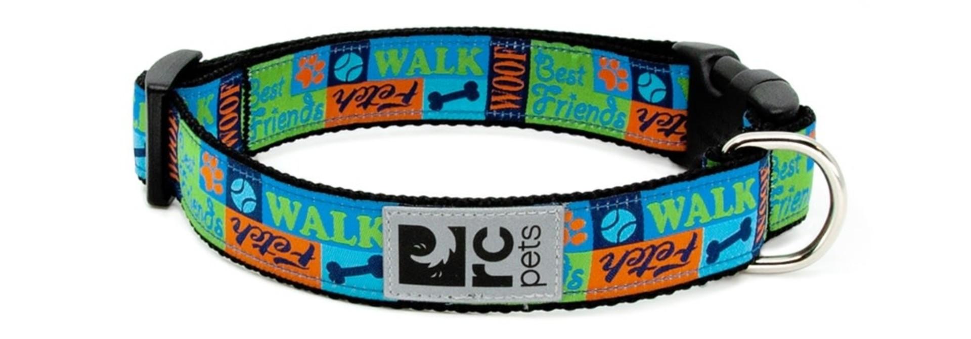 "Clip Collar Medium 1"" Best Friends"
