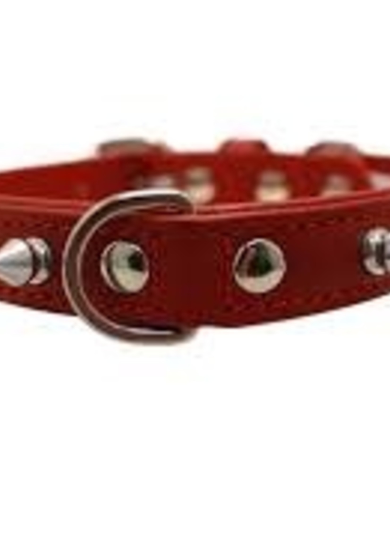 """Angel Collar Spiked Red 16"""" x 3/4"""""""