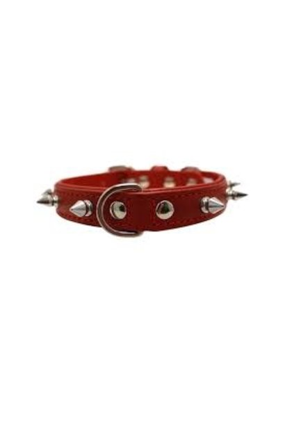 "Angel Collar Spiked Red 16"" x 3/4"""