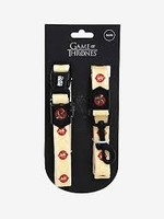 """Game of Thrones Game of Thrones Collar & Leash House of Lannister Medium 12""""-18"""""""