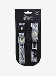 """Game of Thrones Collar & Leash House of Stark Small 8""""-14""""-1"""