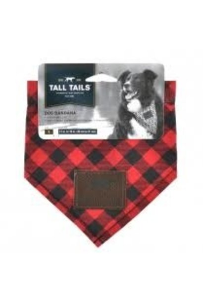 Tall Tails Bandana Red Plaid-Medium