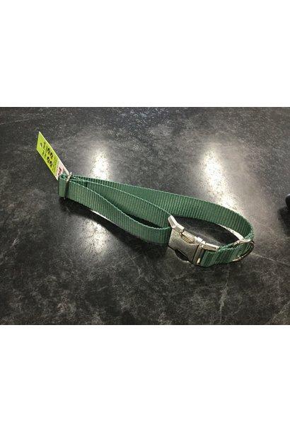 "1"" Mighty Metal Dog Collar (14""-22"")- Green"