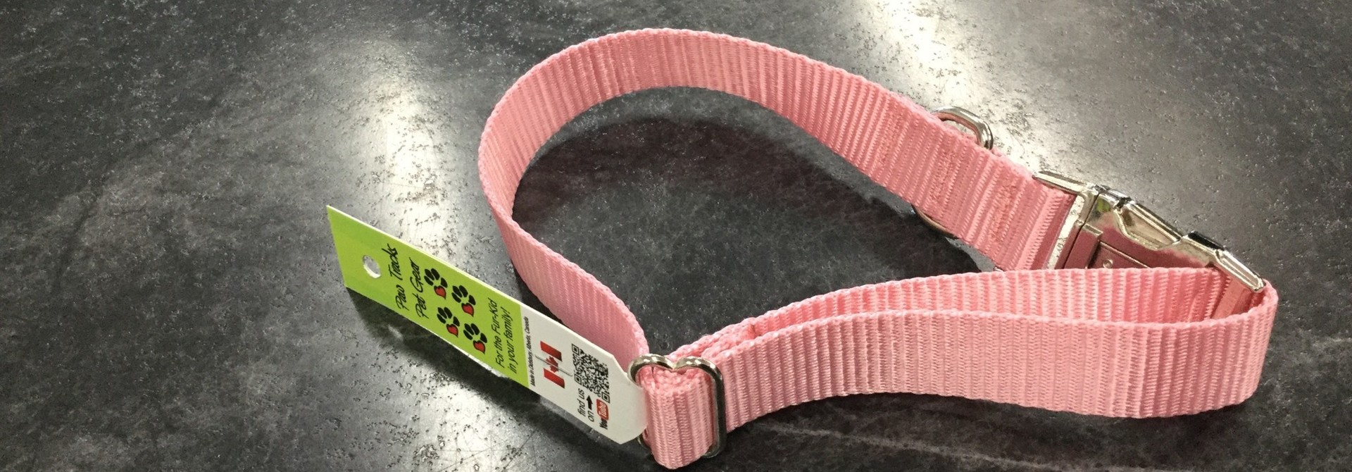 "1"" Mighty Metal Dog Collar (14""-22"")- Pink"