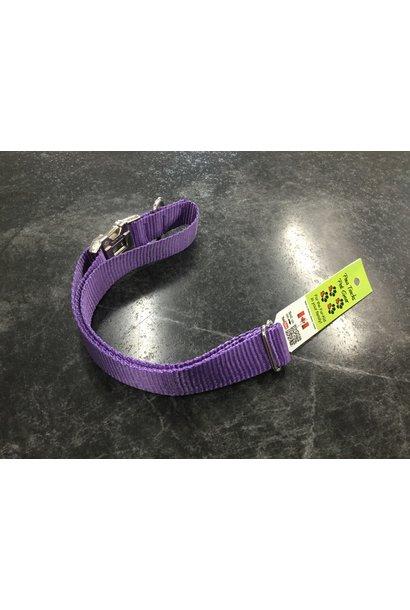 "1"" Mighty Metal Dog Collar 20-32""- Purple"