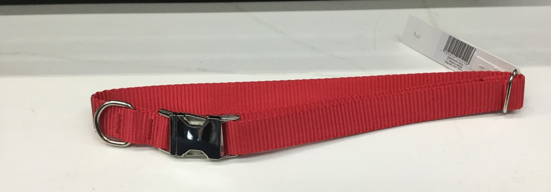 "1"" Mighty Metal Dog Collar 20-32""- Red"