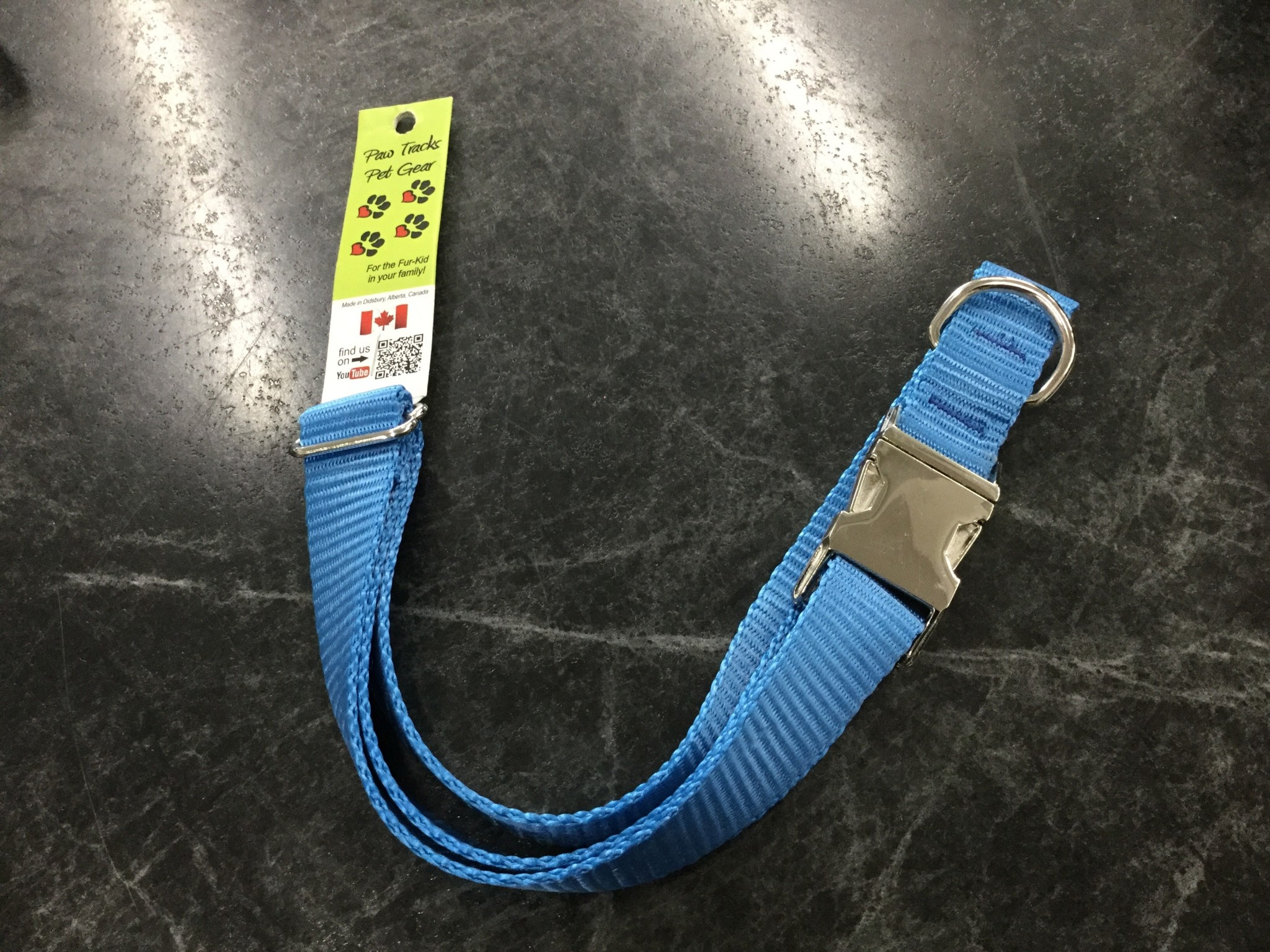 "1"" Mighty Metal Dog Collar 20-32""- Royal Blue-1"