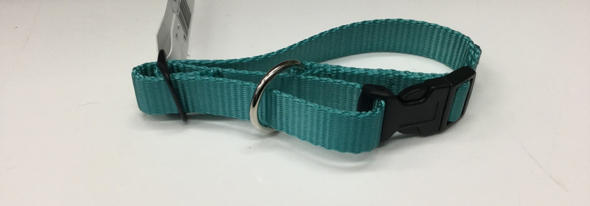 "3/4"" Adjustable Dog Collar with Composite Buckle Teal"