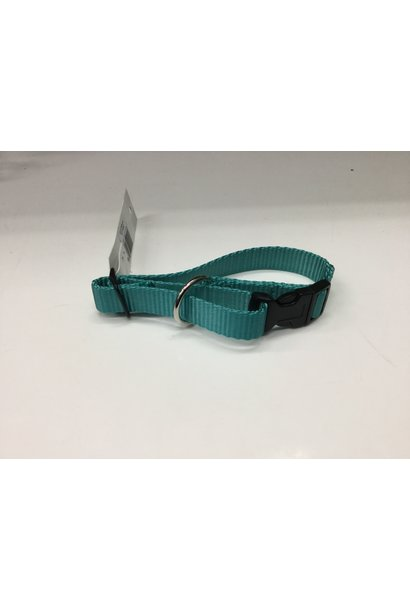 "3/4"" Adjustable Dog Collar Teal 9""-14"""