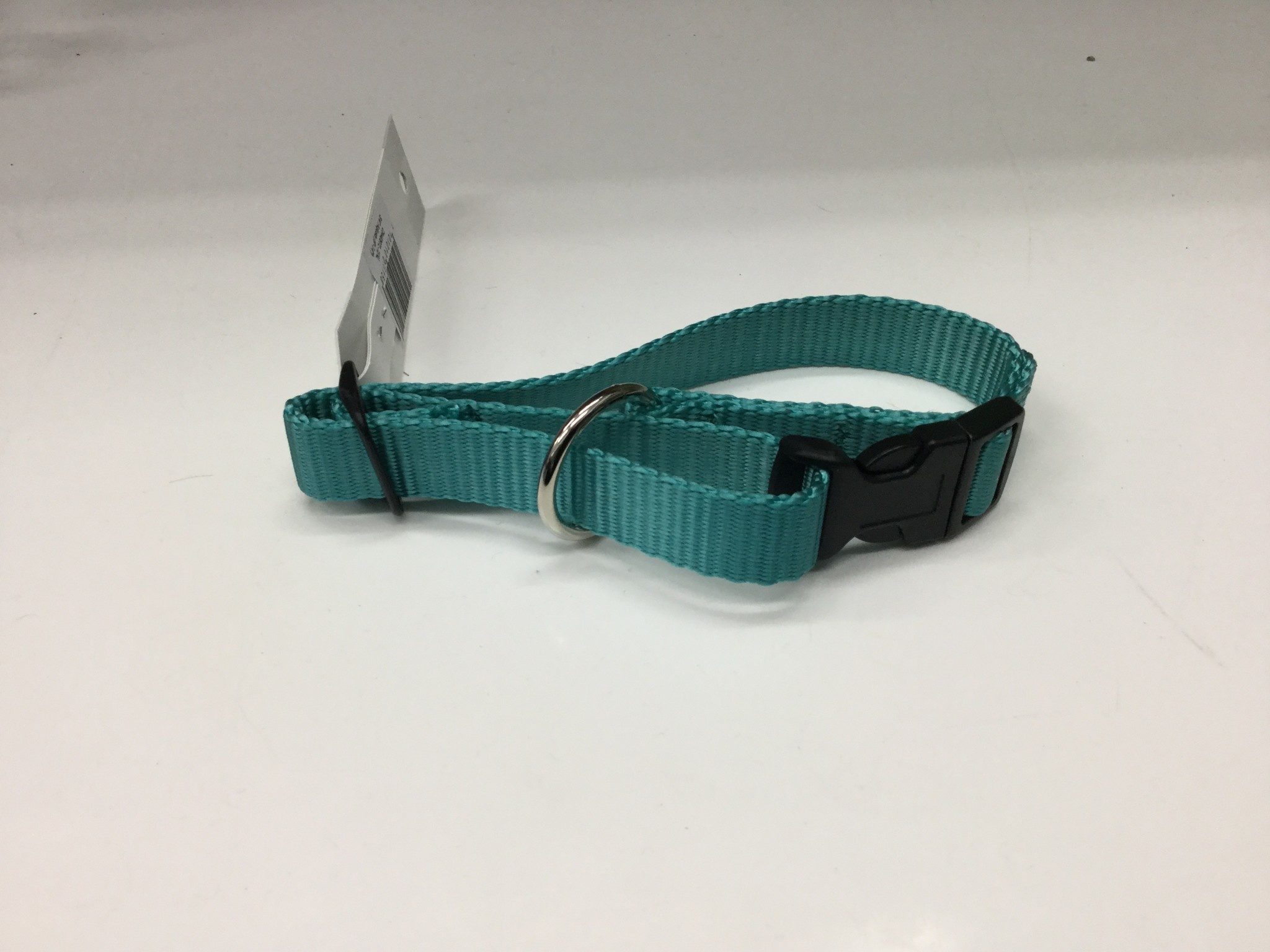 "3/4"" Adjustable Dog Collar with Composite Buckle Teal-1"