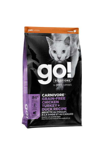 GO! Carnivore GF Chicken Turkey & Duck 8LB Cat