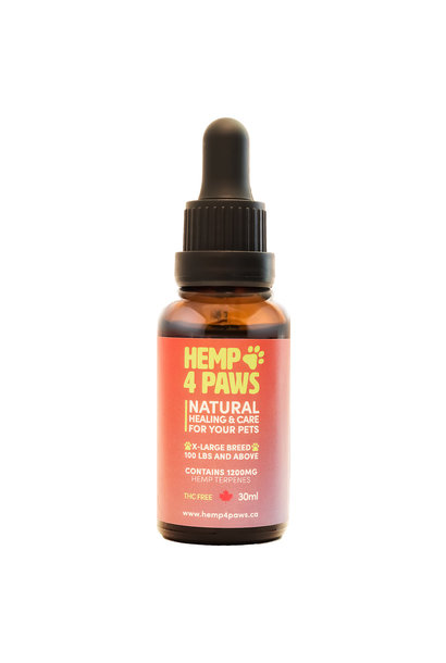 Hemp 4 Paws - XLarge Breed 1200mg-30ml