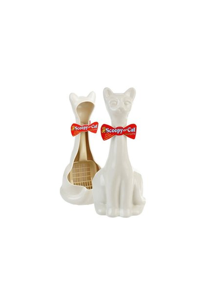 New Age Pet Scooby The Cat Litter Scoop White