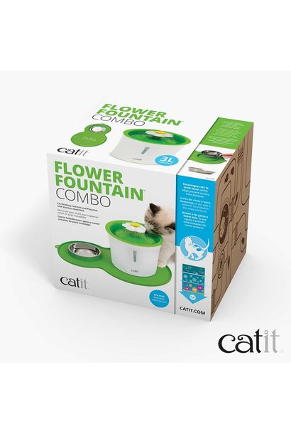 CatIt Flower Fountain And Mat Combo