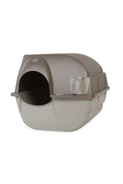 Roll' N Clean Litter Box Black Large