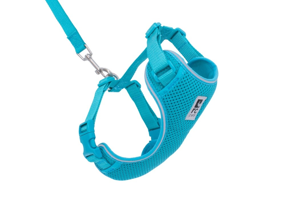 Adventure Kitty Harness Large Teal-1