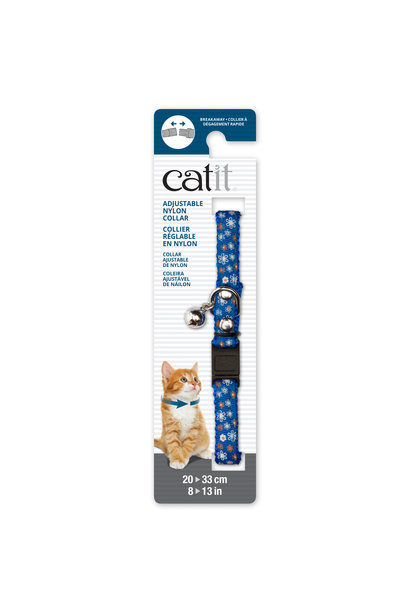 CatIt Adjustable Nylon- 20-33cm- Blue