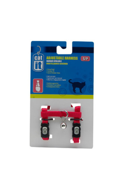Catit Adjustable Harness, small, red