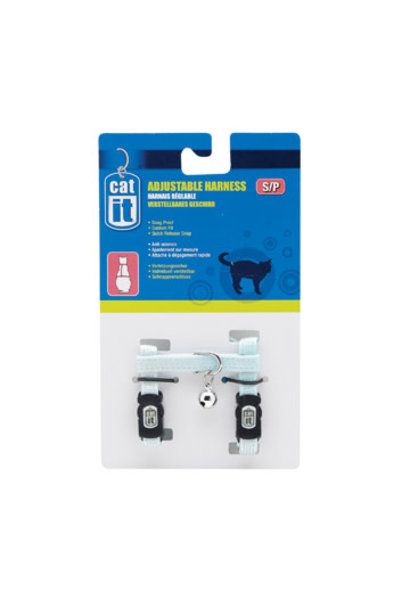 Catit Adjustable Harness, small, blue