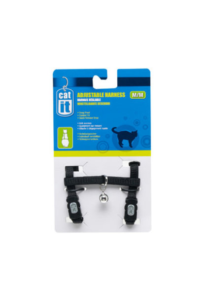 Catit Adjustable Harness, medium, black