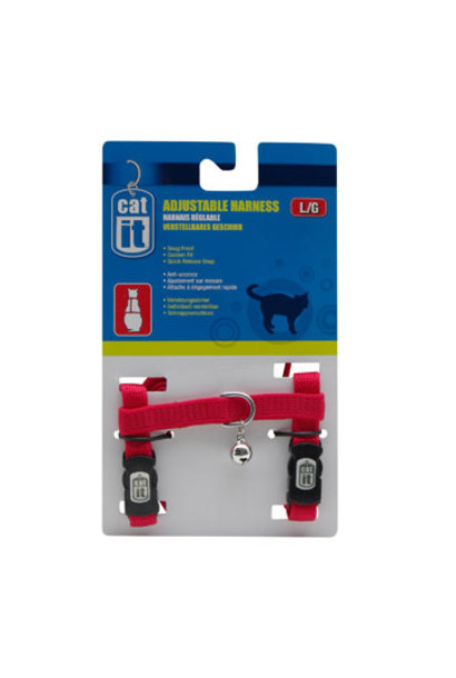 Catit Adjustable Harness, large, red