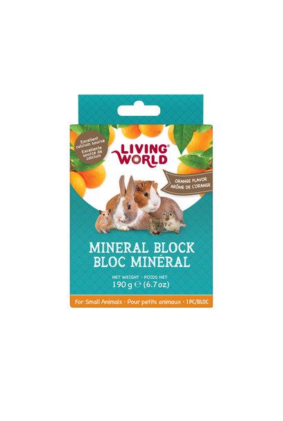 Living World Small Animal Mineral Block, Orange