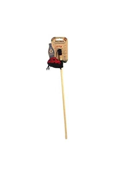 Beco Cat Nip Wand Toy Ladybird Red