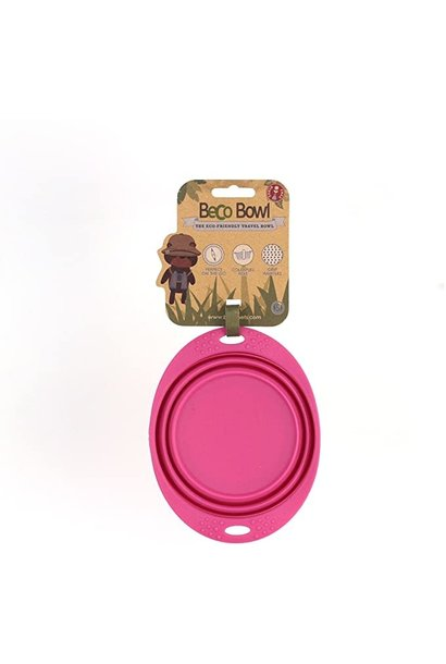 Beco Travel Bowl Pink Small