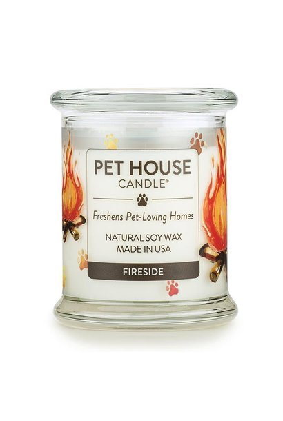 One Fur All  Lrg Candle - Fireside