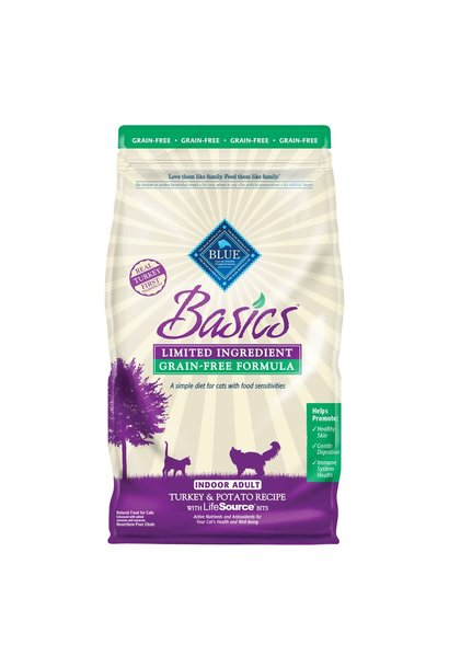 Blue Basics Cat Indoor Adult Turkey & Potato LID