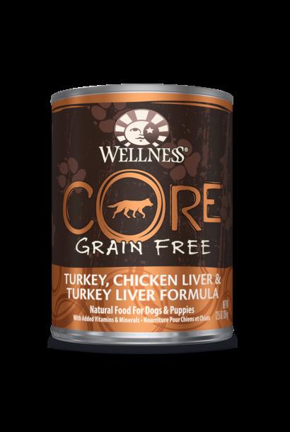 Wellness Core Turkey & Chicken Liver Dog 12.5 OZ