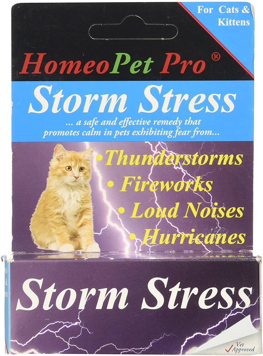 HomeoPet Pro Storm Stress for Cats & Kittens-1