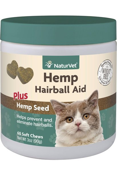 Naturvet Soft Chew Hairball Aid 60ct