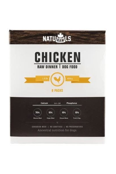 Naturawls Raw Chicken & Veggie 8x1lb