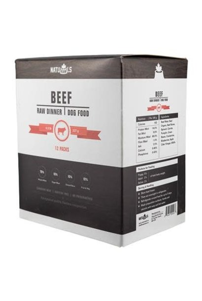 Naturawls Raw Dinner Beef & Veggie 12x .5lb