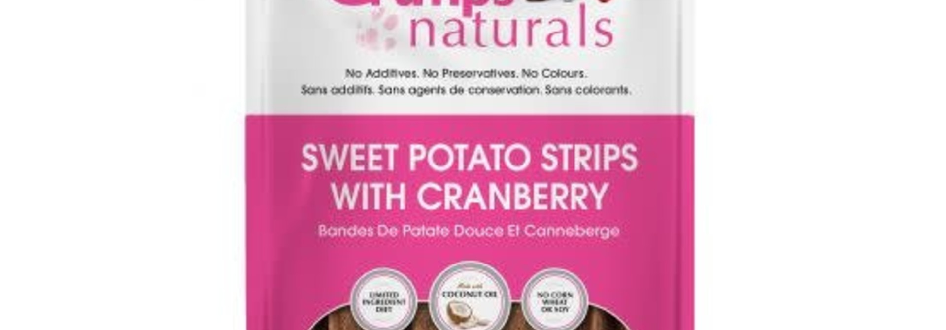 Crumps Sweet Potato Strips Cranberry 5.6oz