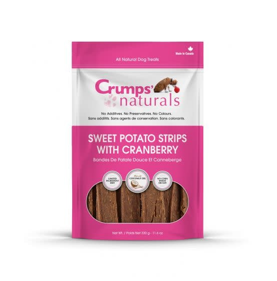 Crumps Sweet Potato Strips Cranberry 5.6oz-1