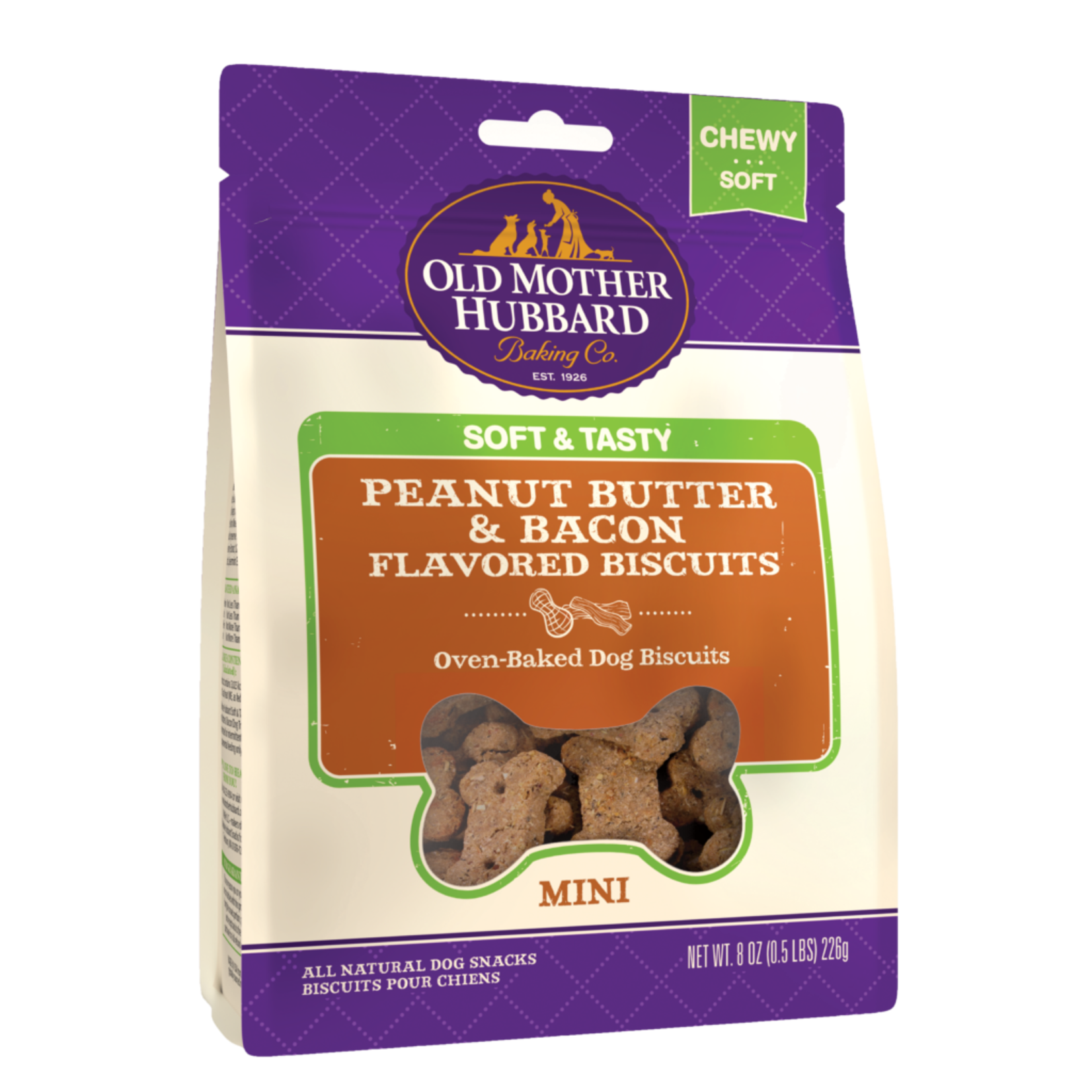 Old Mother Hubbard OMH Soft & Tasty Peanut Butter & Bacon 8oz