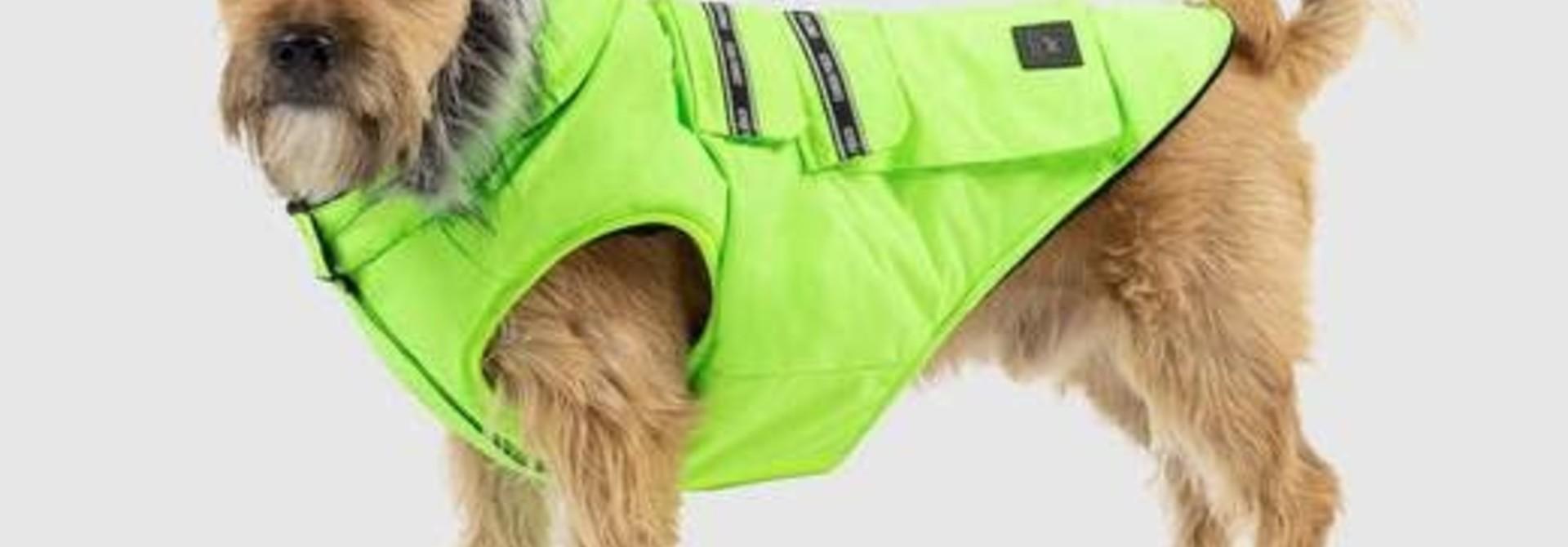 """Canada Pooch Explorer Jacket Neon Green 18"""""""
