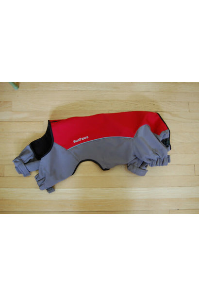 Sun Paws Soft Shell Overall Red M